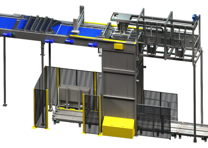Arrowhead Systems High Level Bulk Palletizer View 1