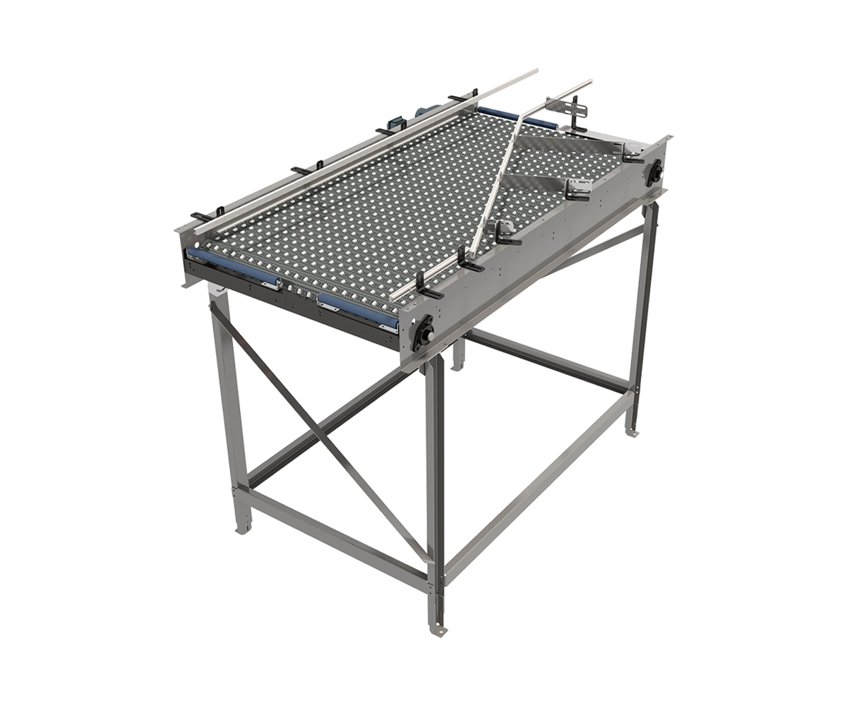 Arrowhead Systems' ARBTM S400 Case Lane Merger Conveyor
