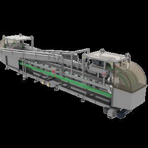 Side View of Water Rinser Conveyor