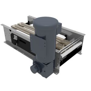 Back View of Rollerless Case Conveyor