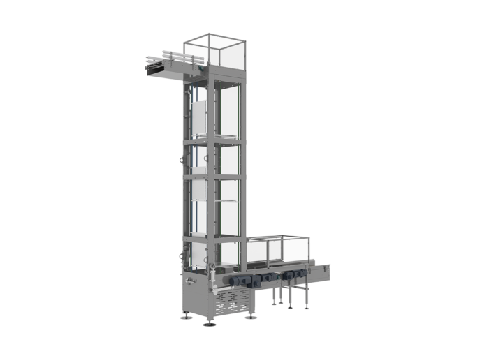 Continuous Motion Vertical Conveyor from Arrowhead Systems