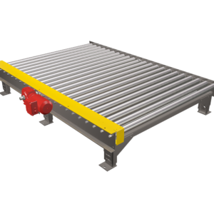 Top View of Chain Driven Live Roller Pallet Conveyor