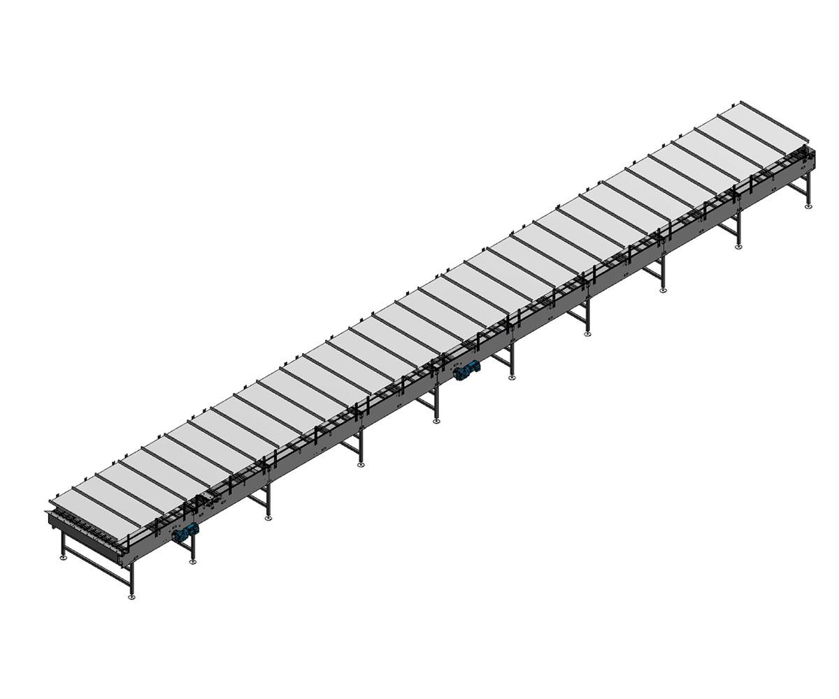 Arrowhead Systems' Can Conveyor Conveyor Accumulation Table