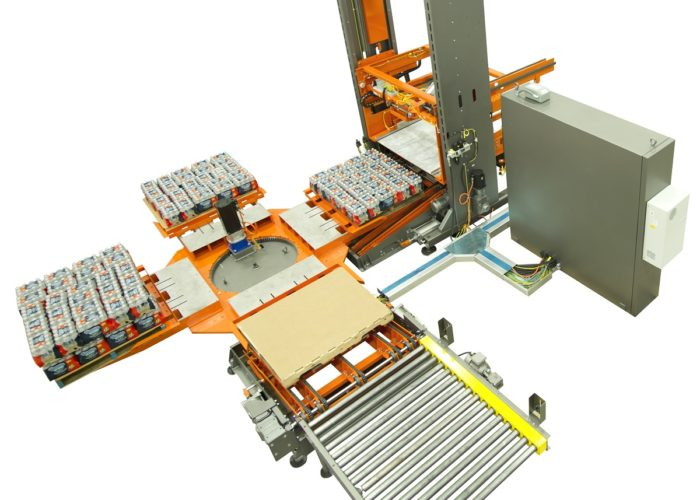 Low Level Case Palletizing Solutions from Arrowhead Systems