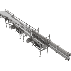 Top Angled View of Converging Rail Single Filer