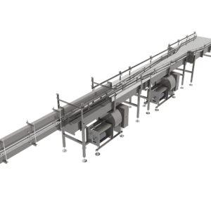 Side View of Converging Rail Single Filer