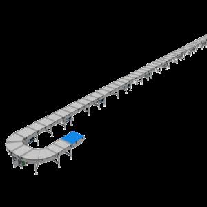 Top Back View of Mass Air Conveyor