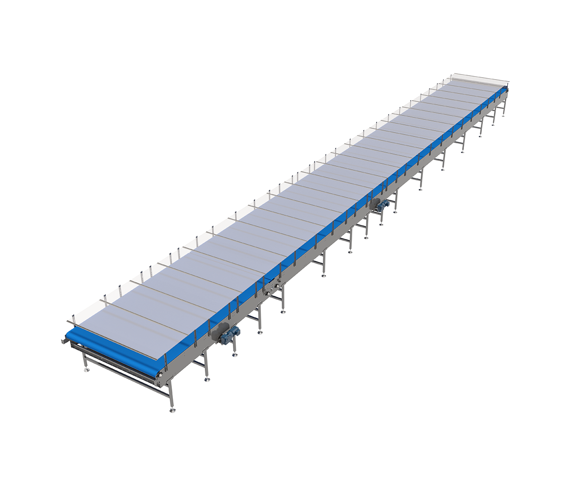 Second Side Angle View of Mass Mechanical Conveyor