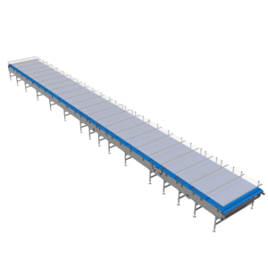 Side Angle View of Intralox® Mass Mechanical Conveyor