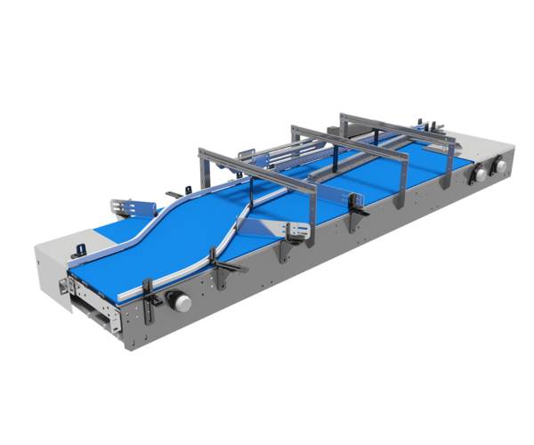 Single Lane Combining Mat Top Conveyor