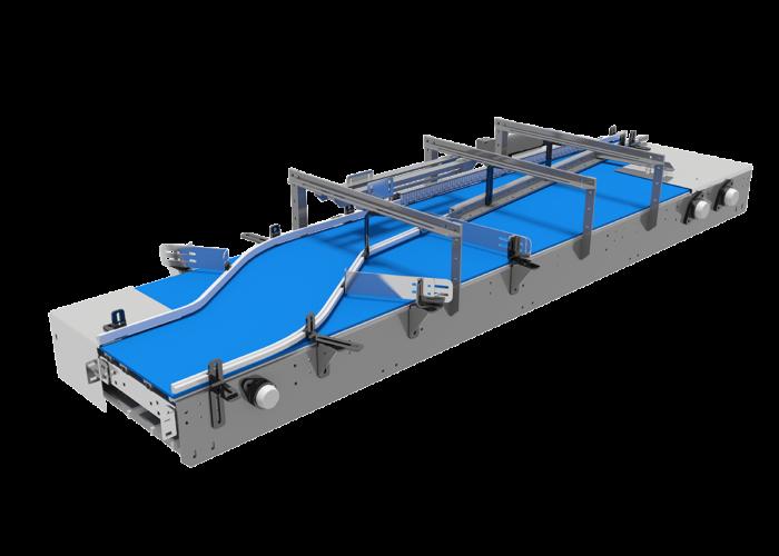 Arrowhead System's Single Lane Combining Mat/Table Top Conveyor