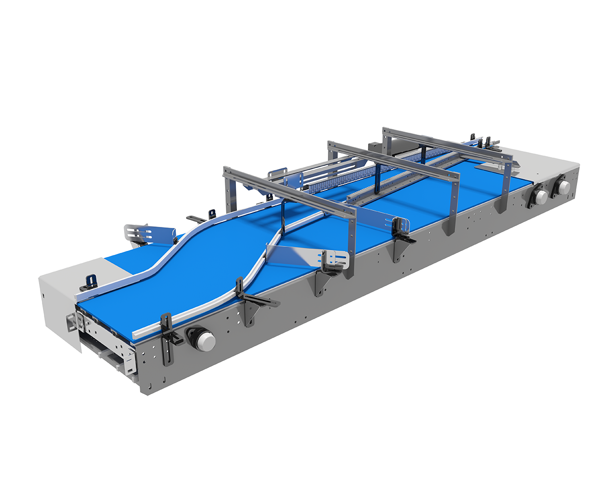 Arrowhead System's Single Lane Combining Mat/Table Top Conveyor