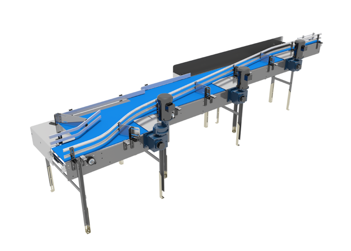 Pressureless Single Filer Conveyor from Arrowhead Systems