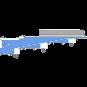 Top View of Pressureless Single Filer Conveyor