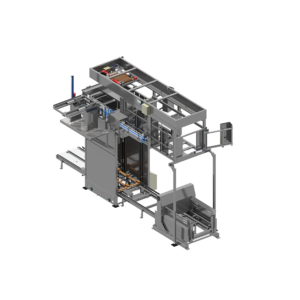 Front View of Bedless Classic R Series Bulk Palletizer
