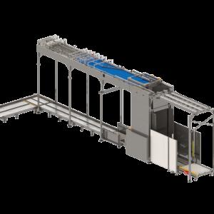 Third Side View of Palletizer / Depalletizer Sorter System