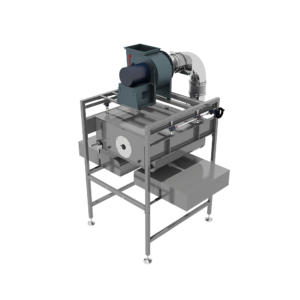 Front View of Conveyor Vacuum Transfer Unit