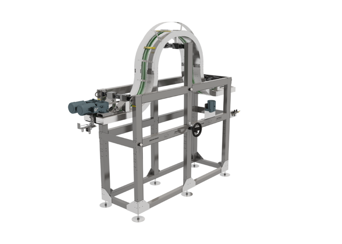 Vertical Humpback Conveyor Headspace Sterilizer from Arrowhead Systems