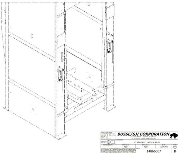 W Series – Hoist Latch Kit