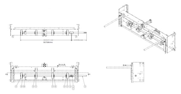 Sheet Feeder Roller Split Shaft Kit